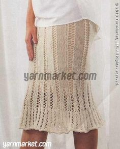 Ecological Wool Lace Skirt - Interweave Knits: Special Ed. - Knit Wear Spring 2013