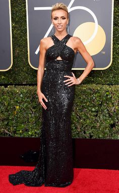 Giuliana Rancic from 2018 Golden Globes Red Carpet Fashion