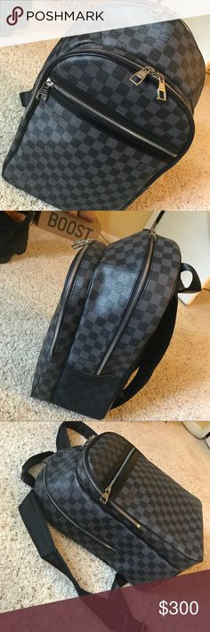 LV Backpack Super high quality UA LV Michael Damier Graphite Backpack. I'd love to keep it but need Xmas money. No trades. All reasonable offers will be considered. Please keep the negativity to yourselves if you don't like it thank you. Happy Holidays Louis Vuitton Bags Backpacks