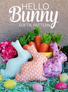 Hello Bunny free Softie Pattern
