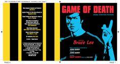 Game of Death OST CD booklet spread. Client: Silva Screen Records. Circa 2003. © Sean Mowle.