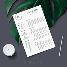 Modern & Professional Resume / CV Template for Ms Word / Pages: Kimberly + Cover letter + References + Resume tips Cover Letter Format, Cover Letter Design, Cover Letter For Resume, Cover Letter Template, Letter Designs, First Resume, My Resume, Resume Writing, Modern Resume Template