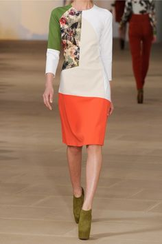Preen Rose color-block cotton-blend dress NET-A-PORTER.COM