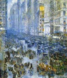 Frederick Childe Hassam, Fifth Avenue in Winter, 1919