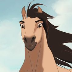 Spirit Horse Movie, Spirit The Horse, Caballo Spirit, Spirit Drawing, Horse Movies, Touchstone Pictures, Horse Cartoon, Black Stallion, Cartoon Profile Pics