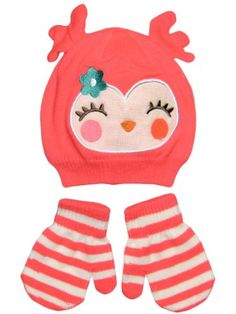 Girls Owl Baby Infant Toddler Animal Winter Critter Hat and Mitten Set by Carters - Pink - 12-24 Mths Carter's http://www.amazon.com/dp/B00GOIBU2Y/ref=cm_sw_r_pi_dp_vB-bub1N36ZHA