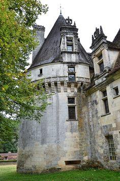 Château de Puyguilhem situé sur la commune de Villars, dans le département  de la Dordogne,Aquitaine, France.