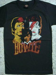 david bowie aladdin sane retro t-shirt unisex size m
