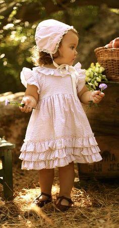Tan Stripe Crinkle Dress