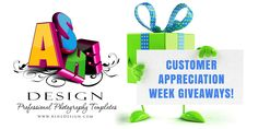 Ashe Design will give away an awesome prize to one lucky winner each day beginning Wednesday, April and running through Tuesday, April No purchase necessary. Enter here to win! Photography Cheat Sheets, Photoshop Photography, Senior Photography, Image Photography, Photography Ideas, April 10th, 3d Pen, Customer Appreciation, Photoshop Elements