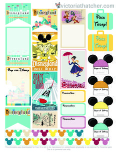 Plan your Disney Vacation using these FREE Planner Stickers
