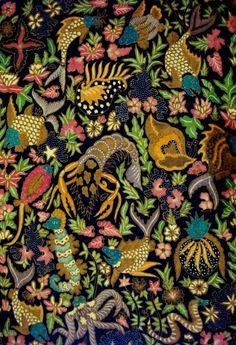 batik Solo - Indonesia (biota laut)