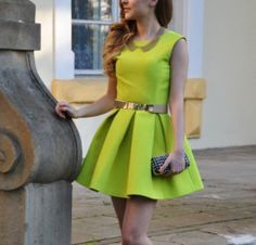 Women Neon Green Open Back Dresses Backless Sashes Party Short Mini Sexy 2014 Spring and Summer New Design Sundress Tunics Gowns-in Dresses from Apparel & Accessories on Aliexpress.com