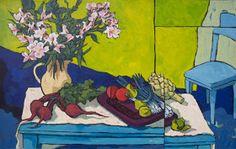 Por amor al arte: Angus Wilson Peruvian Lilies, Wilson Art, Watercolor Effects, Watercolour, Landscape Paintings, Flower Paintings, Landscapes, Gouache, Van Gogh