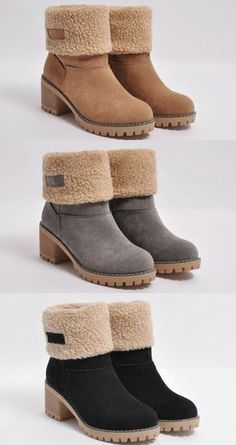 Chellysun Winterschuhe Pelz Warme Schneestiefel 2018 herbst winter trends Cowgirl … – PAOLA AHUMADA – Join in the world of pin Winter Trends, Mode Outfits, Fall Outfits, Cute Shoes, Me Too Shoes, Grey Shoes, Shoe Boots, Ankle Boots, Fashion Shoes