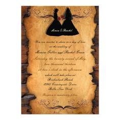 Cowgirl Brides Custom Lesbian Wedding Invitations FOR THE WORDING