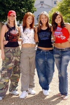 Girls Aloud make tour comeback, let's relive the best dresses, hottest heels and distressing denim! - Aug Pop Stars-The Rivals winners Girls Aloud at Capital FM Source by flowerclara - 00s Mode, Mode Emo, 1990s Fashion Trends, Early 2000s Fashion, Fashion 2017, Look Fashion, Girl Fashion, Fashion Outfits, 90s Teen Fashion