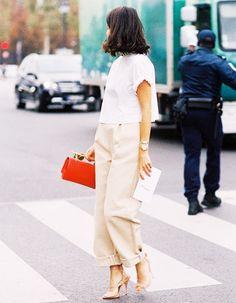 13 Ways to Style a $10 White T-Shirt via @WhoWhatWearUK