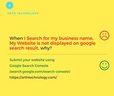 When I search for my business name, My Website is not displayed on a google search result, why? Submit your website using Google Search Console (search.google.com/search-console) Nowadays everybody develops websites for their business, But do you have submitted your website to google search engine, If not then submit it now. Wish you all the best for it, If you want this to be done by the Expert Team then you can definitely contact Arth Technology on +918200752500 / arthtechnology.com Free Quotes, Best Quotes, Cash Management, Engineering Companies, Google Search Results, Online Advertising, Business Names, Seo Services, Software Development