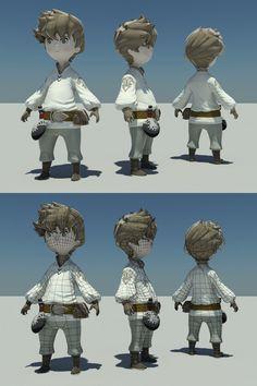 Bravely Practice by Edrice 3d Model Character, Game Character Design, Character Modeling, Character Creation, Character Concept, Character Art, Concept Art, Character Sheet, 3d Modeling