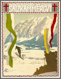 Salzkammergut Vintage Poster