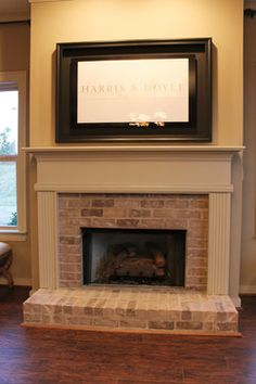 Fireplace with old bricks