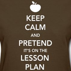 Keep Calm and Pretend It's on the Lesson Plan teacher t-shirt!