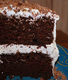 Chocolate Layer Cake...with hot brewed coffee as the secret ingredient!