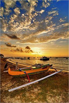 Sunrise at Sanur Beach 6.52 Am -Denpasar  Bali  Indonesia by DiBe