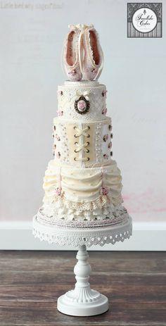 Vintage ballerina cake by Tamara Dance Cakes, Ballet Cakes, Ballerina Cakes, Vintage Ballerina, Unique Cakes, Elegant Cakes, Creative Cakes, Gorgeous Cakes, Pretty Cakes