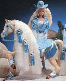 My favorite Barbie! I was always loosing those horse legwarmers though