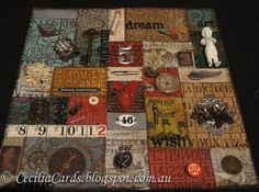 Cecilia's Cards: Tim Holtz quilting on canvas