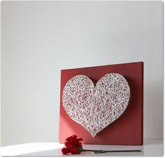 Heart String Art. Doing this on Monday!