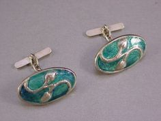 Very Fine Liberty Co Silver Enamel Cymric Cuff Links 1902 by Archibald Knox | eBay