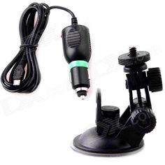 SJ4000 / SJ1000 Sports Camera Vehicle Stent + Charging Cable - Black