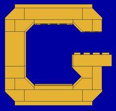 Instructions for building a LEGO alphabet