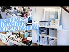 Organizing an Extreme Hoarder Desk and Entry Area! *Huge Transformation! - YouTube