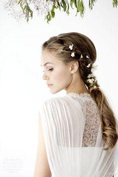 kisui 2016 oui bridal collection vivian sleeveless romantic bohemian wedding dress back view illusion lace panel