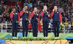 Team USA - 2016 Rio Olympics Gold Medal - Simone Biles, Gabrielle Douglas…
