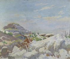 The Gunner's Shelter, Thiepval, 1917, by William Orpen. Imperial War Museums