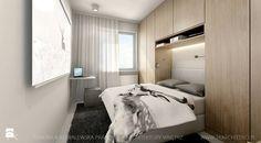 Mieszkanie 46 m - Mała sypialnia małżeńska, styl nowoczesny - zdjęcie od TK Architekci