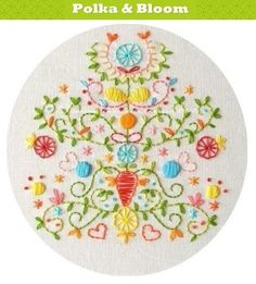 Tree of Love Embroidery Pattern PDF