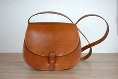 Leather purse crossbody Leonorus handmade leather bag Brown