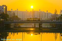 広島の朝日~3/2897の橋は二連の橋 - hirosukeの散歩
