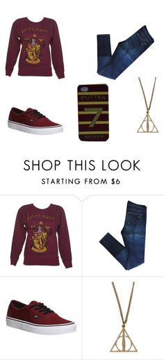 """""""Gryffindor"""" by musichu ❤ liked on Polyvore featuring rag & bone and Vans"""