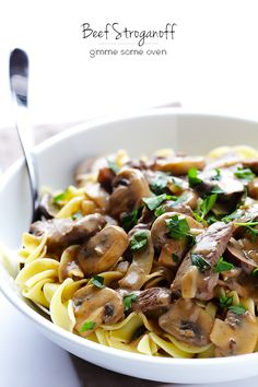 PASS! Husband loved it!!! Beef Stroganoff -- a classic comfort food dish that's lightened up and ready to go in 30 minutes