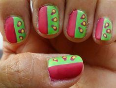 Diseño de uñas inspirado en las sandías