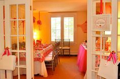 Tea Party Room! Pink Tea party ideas! great birthday party blog.