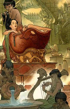 Fables: 1001 Nights of Snowfall splash page by Charles Vess and Michael Kaluta  The Geeky Nerfherder: The Art Of Pop Culture: Charles Vess