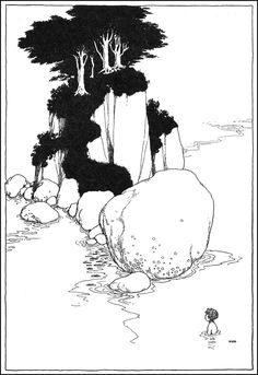 "Illustration by William Heath Robinson  (1872 - 1944) for ""The Water Babies"" by Charles Kingsley (1915)."